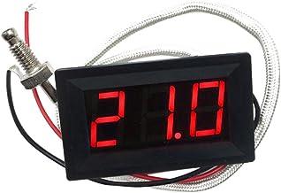 DC 12V -30 A 800 Celsius Digital LED Termómetro Detector De Temperatura Medidor 3 Colores Pantalla PICK - Rojo