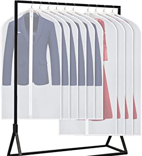 Univivi Hanging Garment Bags Suit Bag for Storage and Travel(Set of 10) Lightweight Study Full Zipper Washable Moth-Proof Dust Cover - 40/54inch