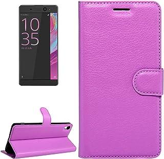 電話プロテクターケース Sony Xperia XA Ultra Litchi Textureホリゾンタルフリップレザーケース、マグネットバックル&ホルダー&カードスロット&ウォレット付き 電話の予備品