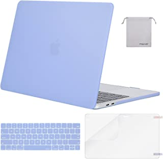 MOSISO MacBook Pro 13 inch Case 2019 2018 2017 2016 Release A2159 A1989 A1706 A1708, Plastic Hard Shell &Keyboard Cover &Screen Protector &Storage Bag Compatible with MacBook Pro 13, Serenity Blue