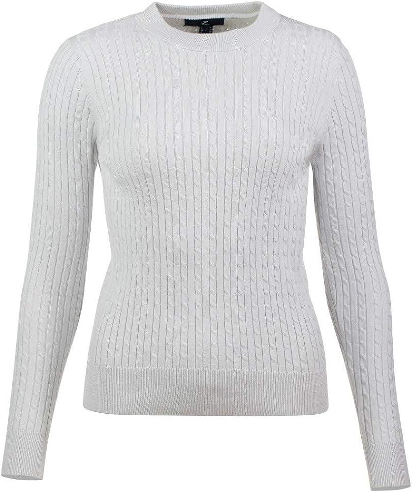 HORZE Women's Rhea Knitted Pullover, Polar Gray, 38