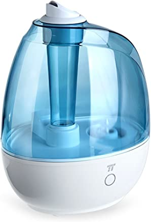 TaoTronics TT-AH009 Humidifier, Ultrasonic Cool Mist Humidifiers 2L/0.5Gallon for Bedroom, Baby Room, Small & Space-Saving, Filter Free, Whisper Quiet, BPA Free