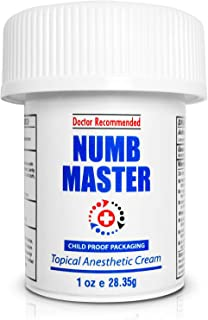 Numb Master 5% Lidocaine Topical Numbing Cream, Maximum Strength Long-Lasting Pain Relief..