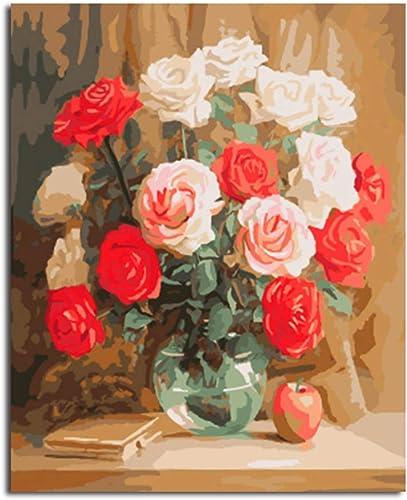 servicio honesto CHAORENZHU Cuadro Enmarcado de la Flor Flor Flor decoración para el hogar Pintura DIY por números Lienzo Pintura al óleo Digital Arte de la Parojo para Sala de Estar  grandes precios de descuento