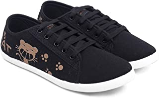 ASIAN Women's Blush-61 Canvas Shoes,Sneakers,Loafers, Fabric Walking Shoes