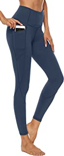 AFITNE Women's High Waist Yoga Pants with Pockets, Tummy Control Workout Running 4 Way Stretch Yoga Leggings