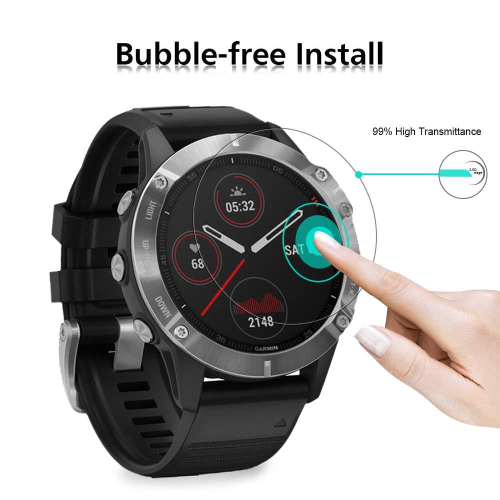durezza 9H 0,3 mm compatibile con la custodia 2,5 D Pellicola proteggi schermo in vetro temperato per Garmin Approach S62 POVINMOS senza bolle confezione da 4