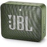 JBL GO 2 Speaker Bluetooth Portatile, Cassa Altoparlante Bluetooth Waterproof IPX7, Con Microfono, Funzione di Noise Cancelling, Fino a 5h di Autonomia, Verde (Muschio)