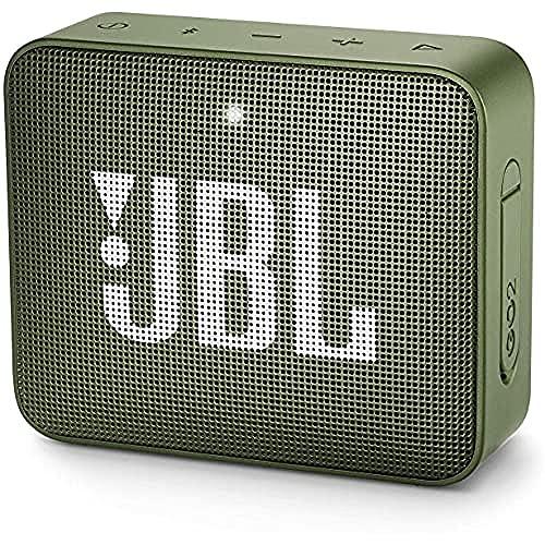 JBL GO 2 - Altavoz inalámbrico portátil con Bluetooth, resistente al agua (IPX7), hasta 5 h de reproducción con sonido de alta fidelidad, verde