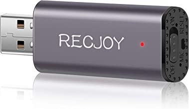16GB Mini Voice Recorder for Lectures Meetings - EVIDA RECJOY 72Hours Digital USB Voice Recorder Recording Device Audio Re...