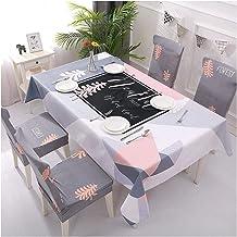 GUOCU Algodón Lino Mantel Antimanchas Impermeable Fáciles de Limpiar Decorativo Mantel de Mesa para Fiesta Cocina Comedor Mantel Silla Juego de Tela Bosque Tres Fundas para sillas