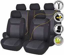 FlyingBanner Maschen und Jacquard Universal f/ür Auto Sitzbez/üge Mit Seitenairbags Beige