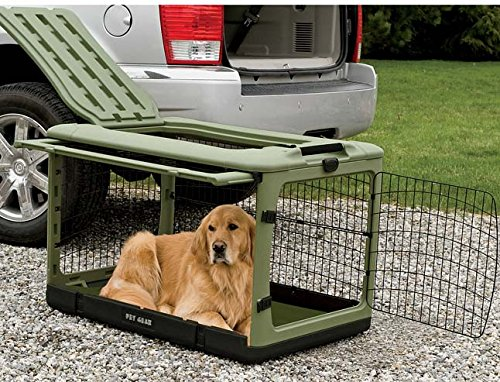 Orvis Collapsible Dog Travel Crate, Sage, Large