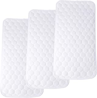 3Pcs Bamboo Waterproof Changing Pad Liners - Extra Large 27 X 13 Inches Thicker Soft Diaper Liners Portable Waterproof Cha...