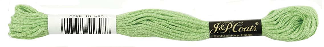 Coats Crochet 6-Strand Embroidery Floss, Chartreuse Bright, 24-Pack