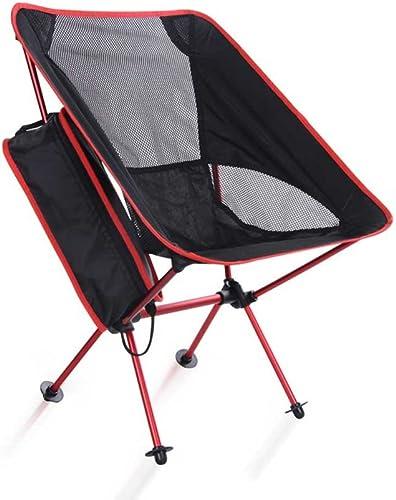 Maybesky Chaise Pliante extérieure de Camping Chaise portative de Lune Chaise en Aluminium Ultra-légère de pêche Chaise de Croquis de Loisirs Chaise de Camping Pliante