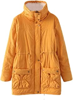 neveraway Women's Plus-Size Lounge Mid-Long Style Hooded Jacket Outdoor Coat