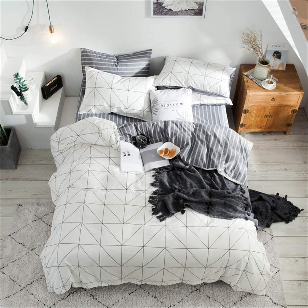 Honeystore Black and White Bedding Plaid Max 47% OFF Beauty products Large Cotton Cover Chec