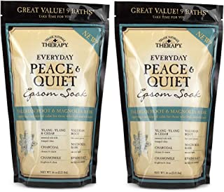 Village Naturals Therapy Peace & Quiet Epsom Soak, 36 oz, Pack of 2