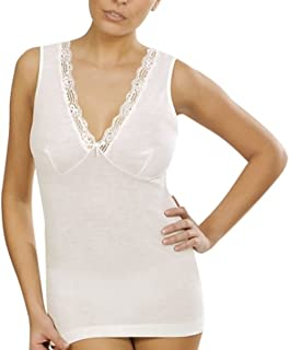 Vajolet canotta lana e cotone donna spalla stretta forma seno art.SS4428