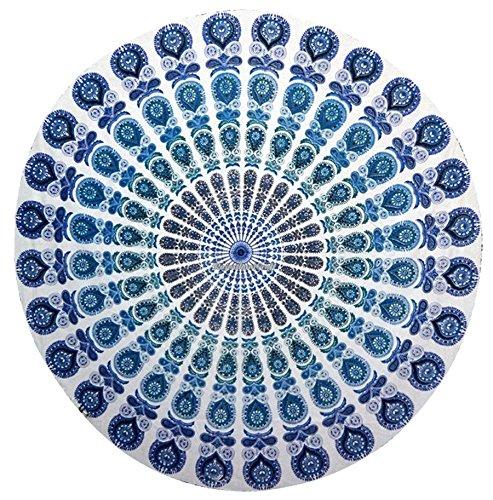 Indien Mandala rond roundie Tapisserie Couverture de plage hippie Boho Gypsy coton Nappe ronde Serviette de plage, Tapis de Yoga Indien Tapisserie Mandala rond de plage Boho Gypsy Tapisserie Tapisserie coton Nappe ronde Drap de Plage Tapis de yoga