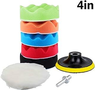 Yosoo 7 10,2 cm Schwamm Polieren Waxing schmirgelpads Kit Set Compound Auto Polierer + M10 Bohrer Adapter Kit