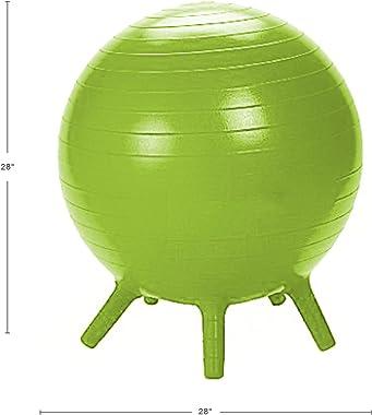 Guidecraft Yoga Ball Chair Green: Kid's Balance Ball, Alternative Flexible Seating for Active Children in Home or Classro