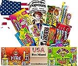 Süßigkeiten Box USA   Deine 21 tlg. Süßigkeitenmischung inklusive frischem Popcorn   XXL USA BOX MIAMI