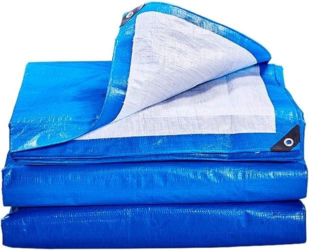 Bache Antipluie Imperméable Bleue Avec Oeillet En Métal, Bache De Couverture De Qualité Supérieure De Bache De Couverture Résistante Pour Le Camping Extérieur, 170g   (taille   8×10m)