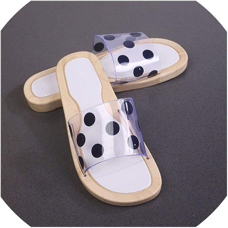 Lewis Pitman Women Sandals Tip Binding Flat Summer shoes Slipper Metal Decoration Slides Transparent