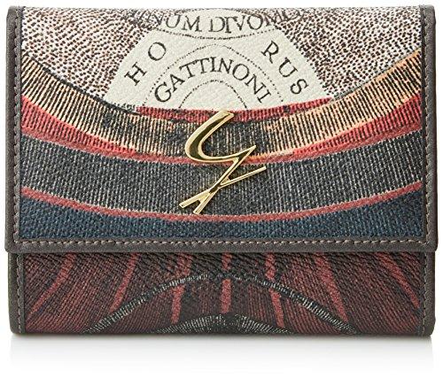 Gattinoni Gpls014, Portafoglio Donna, Grigio (Tibetan), 2x10,5x13 cm (W x H x L)