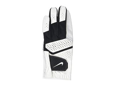 Nike Tech Extreme VI Regular Left Hand Golf Gloves (Pearl White/Pearl White/Black) Over-Mits Gloves