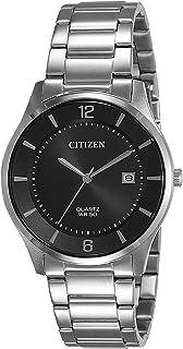 ساعة سيتيزن رجال كواترز انالوج وبسوار من الفولاذ المقاوم للصدأBD0041-89E