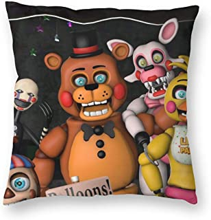 BUSAMEDO Polyester Fiber Five Nights at Freddy's Throw Pillow Cover 18 x 18 Inch for Home Decor Design Sofa Bedroom Car Floral Outdoor Cushions