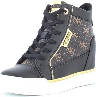 e23547a6 GUESS Zapatillas de Zapatos de Mujer con cuña Interna FL7FABFAL12 Negro