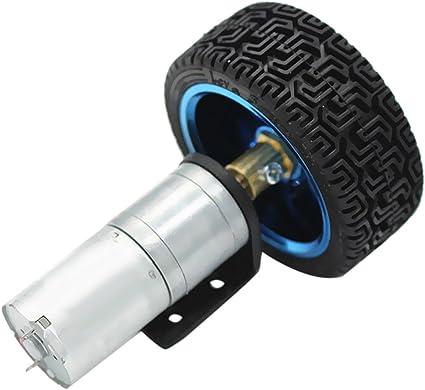 FLAMEER DC Motorino Elettrico Riduttore Ruota Riduzione Velocit/à 12V 170RPM