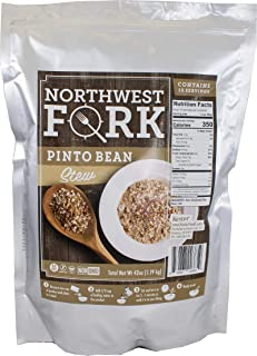 NorthWest Fork Pinto Bean Stew (Gluten-Free, Non-GMO, Kosher, Vegan) 15 Serving Bag - 10+ Year Shelf Life
