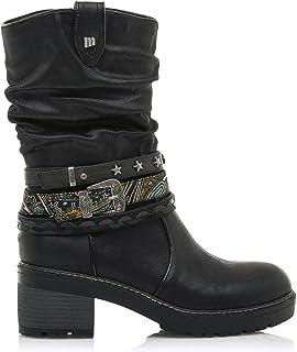 Botas Mujer MTNG | Botas Doris 50003 | MTNG Mujer | Botas caña Arrugada | Cierre con Cremallera