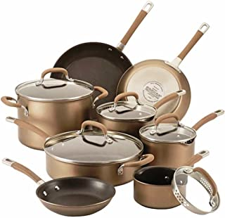 Circulon Premier Professional Nonstick 13-piece Cookware Set | Richly Colored Bronze Exterior