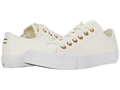 Converse Chuck Taylor All Star Ox Leather (Egret/Gold/White) Women