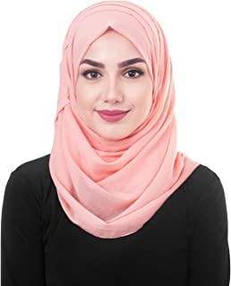 InEssence Peach Bud Cotton Voile Scarf Women Girls Wrap Large Size Hijab