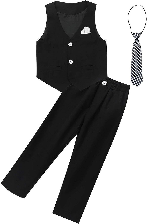 JEEYJOO low-pricing Kids Boys Wedding shop Formal Buttons Dress V Adjustable Suit