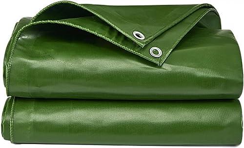 LXYFMS Bache Imperméable à l'eau De Bache De Bache D'auvent Imperméable De Bache De Bache De PVC Bache D'auvent De Bache De Bache De PVC Anti- Bache extérieure (Couleur   vert, Taille   7  5m)