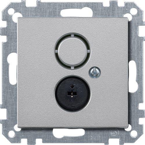 Merten 297460 Lautsprecher-Steckdosen-Einsatz, aluminium, System M