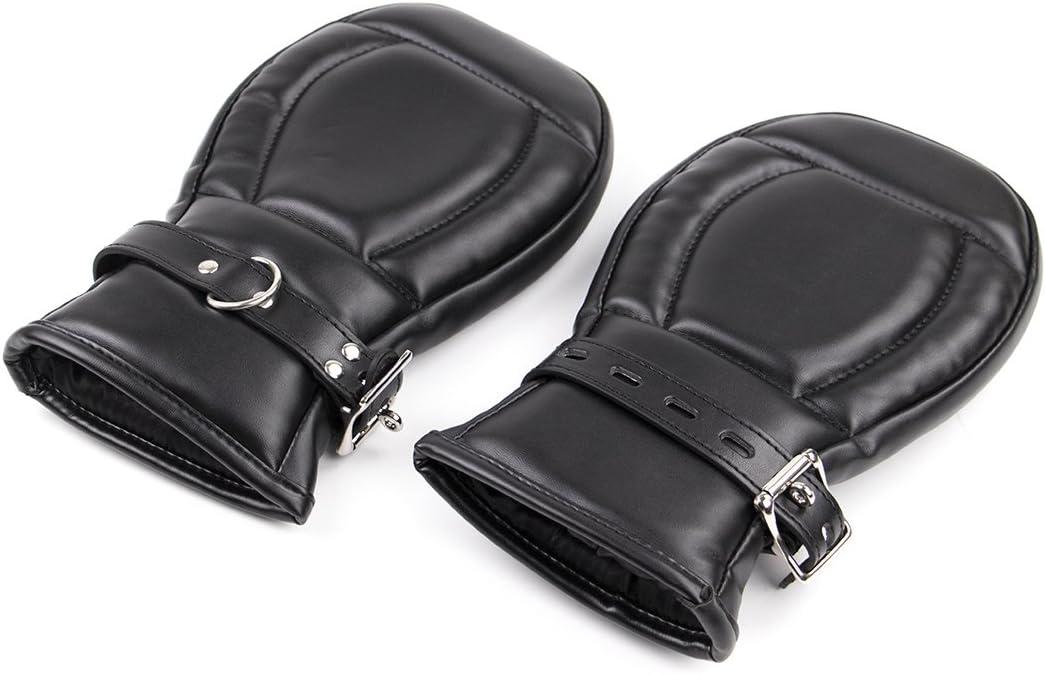 Max 68% OFF Ran Leather Sponge Boxer Shackles red Lock Black El Paso Mall Palm Dog Adjust