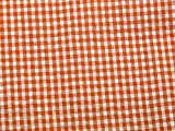 Plaid Check Print Seersucker Baumwolle Kleid Stoff, orange,