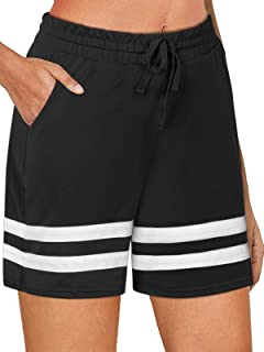 NIMIN Women's Athletic Workout Shorts Stretchy Bermuda Gym Running Yoga Sweat Shorts Lounge Shorts with Pockets