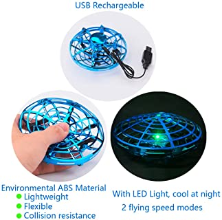 SENCLE Hand Operated Drones Flying Toys for Kids or Adults, Mini Helicopter Drone Toy for Boys, Easy Indoor UFO Flyin...