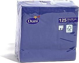 DUNI カラーナプキン 2PLY 4面折 ダークブルー 33×33cm 125枚入