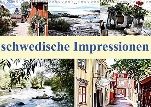 schwedische Impressionen (Wandkalender 2021 DIN A3 quer)